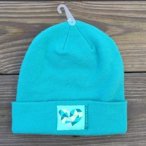 North face Teal blue youth winter hat beanie